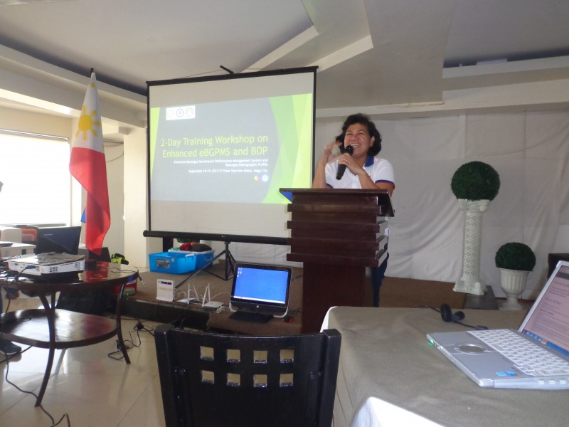 e-BGPMS Training at Starview Hotel, Naga City