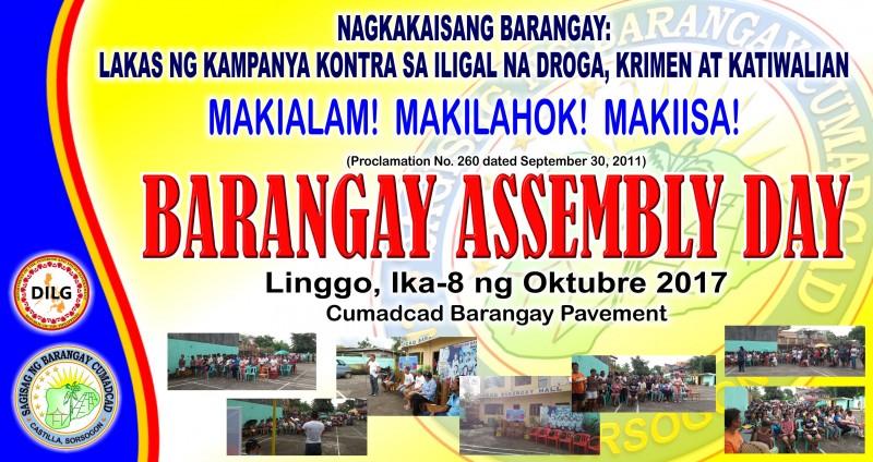 Barangay Assembly Day 2017