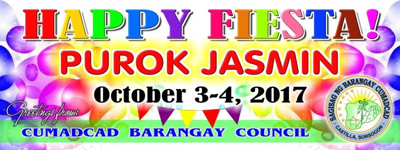 Happy Fiesta Purok Jasmin 2017