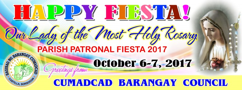Happy Fiesta (Parish Patronal) October 6-7, 2017
