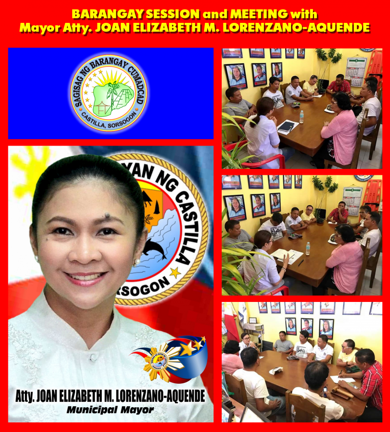 Barangay Session & Meeting with Mayor Joan