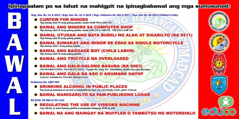Barangay & Municipal Ordinances