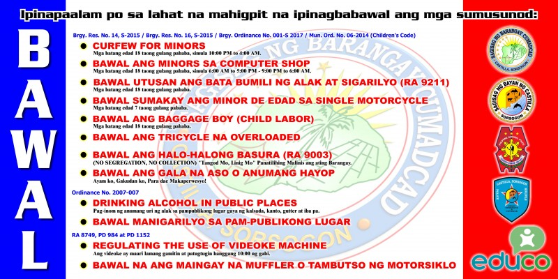 Barangay & Municipal Ordinances