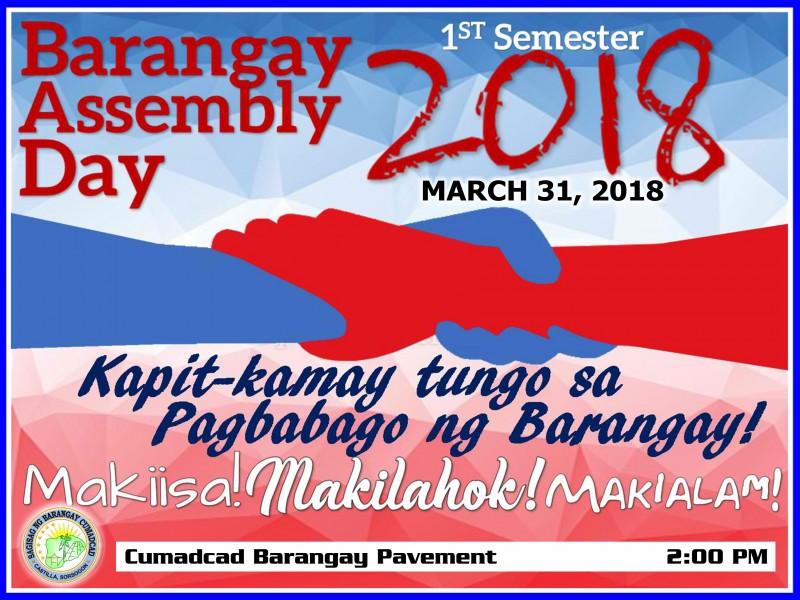 Barangay Assembly Day 2018